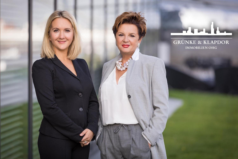 Anika Meilinger und Monika Klapdor von Grünke & Klapdor Immobilien, Hilden