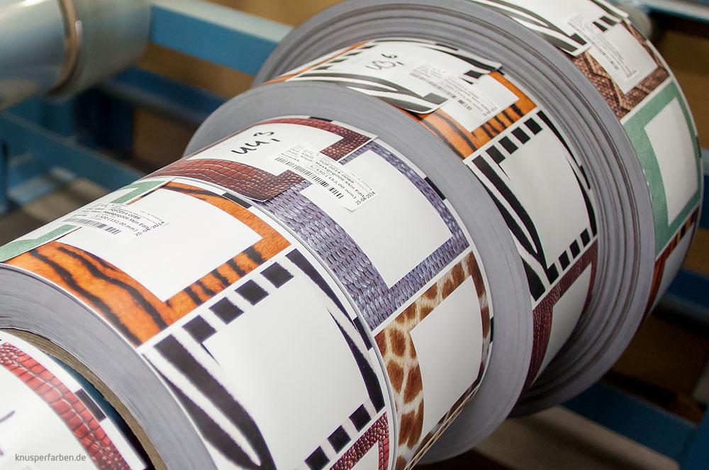 Produktion Muster-Labels
