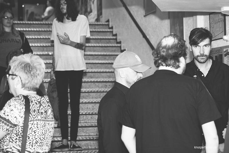 Alexander Steindorf, Marc Dietschreit, Nadine Heinze und Eric Horst im Gespräch