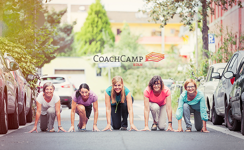 CoachCamp Köln, Annette Bauer, Ruth Urban, Iris Lategahn, Maria Hahnemann und Claire Oberwinter
