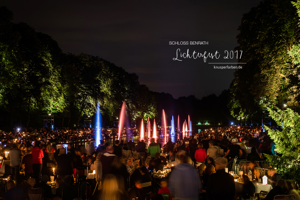 Schloss Benrath Lichterfest 2017